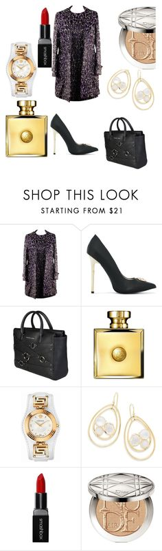 """""""Versace"""" by shannongarner ❤ liked on Polyvore featuring Versace, Ippolita, Smashbox and Christian Dior"""