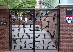 Kelly Family Gates to The Charles Addams Fine Arts Hall at the University of Pennsylvania - Philadelphia PA