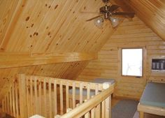 "14'7"" x 27' 580 sq. ft. cabin has a living area, porch space, kitchen, bathroom, bunk rooms and loft space so there's plenty of spac"