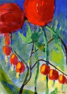 Tränende Herzen und Tulpen | Emil Nolde, 1867 - 1956 | German Painter & Printmaker | Expressionist