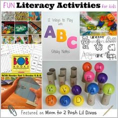 Literacy Activities for Kids - Pinned by @PediaStaff – Please Visit  ht.ly/63sNt for all our pediatric therapy pins