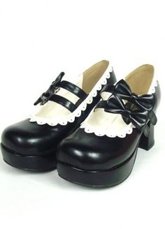 Beautiful Black High Heel Platform PU Womens Lolita Shoes (lolita shoes,fashion shoes,lolita,shoes)