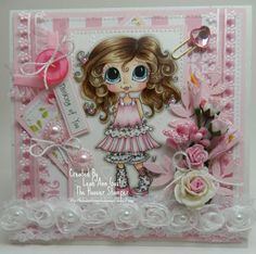She is such a Darling  Coloured by Leah Ann Blackwell Gast  Sherri Baldy Stamps