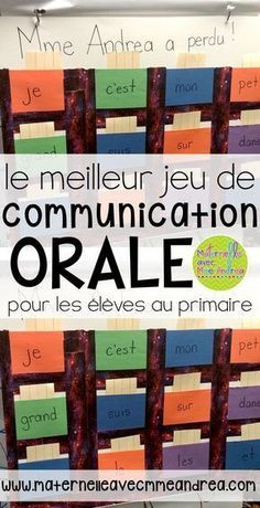 Le meilleur jeu de communication orale Classroom tips & tricks, resources and teaching ideas for the primary French classroom - immersion or French first-language Communication Orale, Communication Activities, French Teaching Resources, Teaching Ideas, Primary Teaching, Teaching Strategies, Classroom Resources, Learning Resources, Teaching Activities