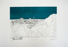 Primrose Hill London by Will Clarke Illustration - product images  of