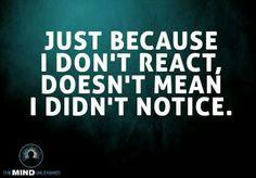 Didnt react