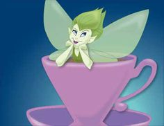 This is Teacup Fairy: another image from my early digital art days, this one I drew entirely in Illustrator, then imported it into Photoshop for color. Being new to the genre, I didn't know I should keep it in layers, and flattened the image, making it difficult to change. I like it anyway.