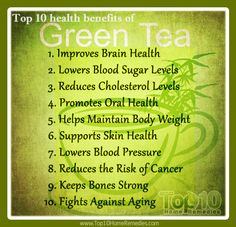 Green tea health benefits  www.tsu.co/Myrla21