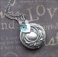 Bride Locket Locket Necklace Silver Necklace by TheEnchantedLocket