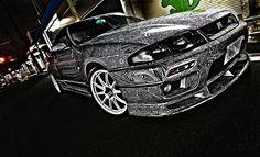 Une artiste transforme la Nissan GTR de son mari en une véritable oeuvre d'art   Buzzly