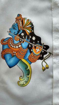 Kerala painting on fabric