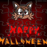 Printable Cat Halloween Puzzle. Give a like if you love puzzles!