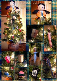 My little Supernatural Christmas tree I made this year. All the ornaments are handmade(air dry clay) and I made a little Castiel treetopper. Merry Christmas everyone! Mary Christmas, Cool Christmas Trees, Christmas Time Is Here, Merry Christmas Everyone, Christmas Tree Themes, Christmas Fashion, Christmas Tree Ornaments, Christmas Holidays, Christmas Crafts