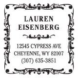 I want this  Antique Square Return Address Personalized Stamp from Exclusively Weddings / http://www.ldsfunny.com/antique-square-return-address-personalized-stamp-from-exclusively-weddings/