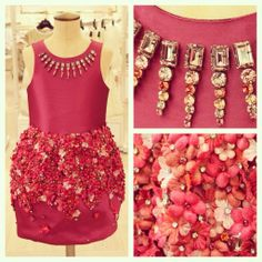 Dress to impress in this swarovski adorned, hand crafted Mischka Aoki dress. #MiniHarrods #InStore