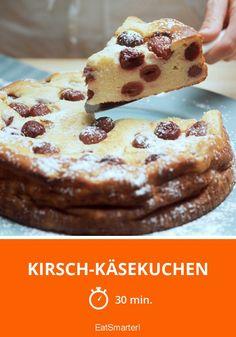 Kirsch-Käsekuchen - smarter - Zeit: 30 Min. | eatsmarter.de Eat Smarter, French Toast, Breakfast, Food, Bakken, German Recipes, Fruit Cakes, Food Food, Eten