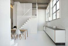minimalist loft kitc