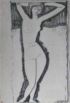 "artist-modigliani:"" Nude, Amedeo ModiglianiMedium: pencil on paper"" Amedeo Modigliani, Life Drawing, Drawing Sketches, Sketching, Madame Pompadour, Art Postal, Atelier D Art, Italian Painters, Paul Gauguin"