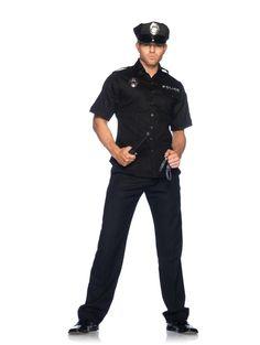 Men's Police Officer Halloween Costume - Leg Avenue.  now at teezerscostumes.com, cop costume