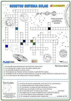 Crucigrama de nuestro sistema solar Spanish Lesson Plans, Spanish Lessons, Science Classroom, Social Science, Solar System Worksheets, Solar System Projects, Spanish Classroom, Science Lessons, Worksheets For Kids