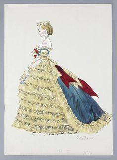 Cecil Beaton costume sketch for Anna Moffo.