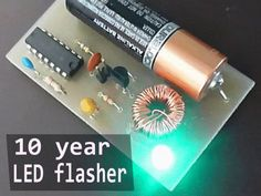 This LED flasher circuit will run for 10 years on a single 1.5V AA cell. By SimpleTronic.