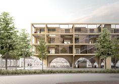 JAJA+Wins+Second+Prize+for+Swedish+Housing+and+Market+Hall+Hybrid