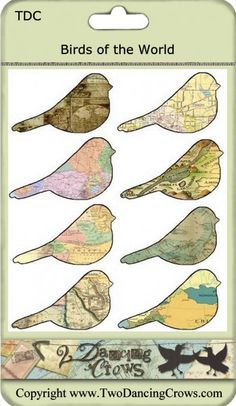 birds and maps - good combo