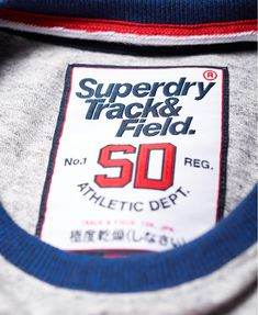 Shop Superdry Mens Track & Field Baseball T-Shirt in Grey Marl/sonic Blast Blue. Buy now with free delivery from the Official Superdry Store. Sonic Blast, Sports Graphic Design, Superdry Mens, Baseball T, Great T Shirts, Saved Items, Track And Field, Fabric Material, Grey