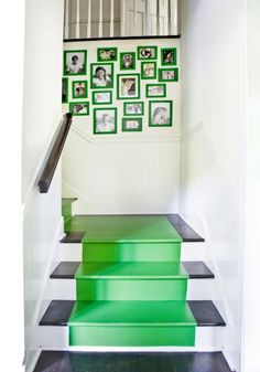 Staircase Inspiration--Many ideas to make a staircase look unique.