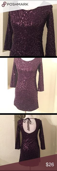 """Sequins Mini Dress Stretch sequins fabric. 30""""long from shoulders to hem. Forever 21 Dresses Mini"""