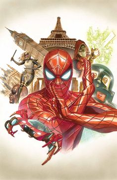 Alex Ross- Spider man 9 cover Original Comic Art - W. Marvel Dc, Marvel Comics Art, Marvel Heroes, Captain Marvel, Alex Ross, Amazing Spiderman, Spiderman Art, Spider Man 2015, Spider Gwen