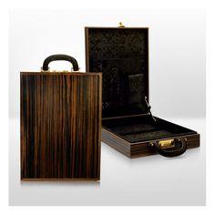 Wooden Briefcase Makassar dark Veneer - Lafinese Collection