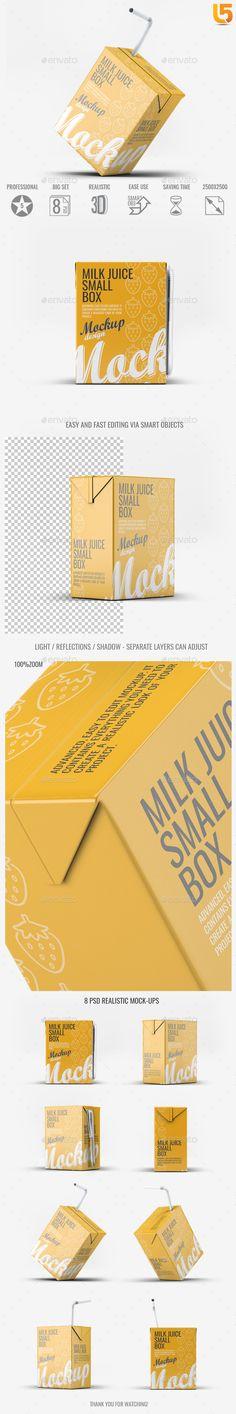 Milk or Juice Small Box Mock-Up
