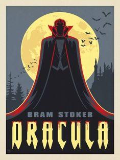 Halloween Poster, Halloween Art, Vintage Halloween, Retro Poster, Vintage Posters, Bram Stoker Books, Dracula Book, Vampire Art, Arte Obscura