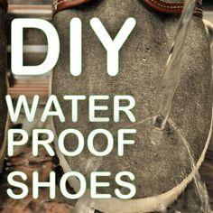 DIY How to transform your regular shoes to be waterproof! #diy #waterproof #shoes