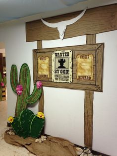 Cross Canyon Trail VBS (Without the Wanted Poster - Western Decor Birthday 60, Cowboy Birthday Party, Cowgirl Party, Wild West Theme, Wild West Party, Wild Wild West, Western Theme, Western Decor, Western Cowboy