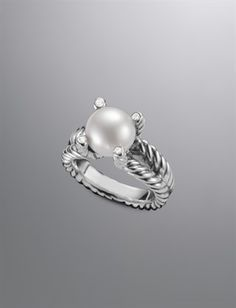 Diamond Cable Pearl Wrap Ring