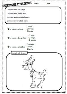 Un texte, 3 questions, noel, hiver, texte, phrases, questions, compréhension cp, dixmois