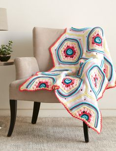 Stitch, Stop & Roll Afghan: FREE crochet pattern | Yarnspirations