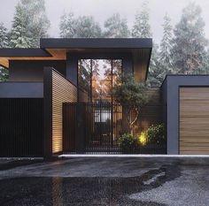 Architecture Design, Modern Architecture House, Residential Architecture, Modern House Design, Architecture Colleges, Security Architecture, Black Architecture, Pavilion Architecture, Architecture Wallpaper