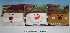 de la felpa de navidad de santa claus de renos del muñeco de nieve cojín almohada-imagen-Adornos navideños-Identificación del producto:92708...