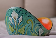 Call Lillies Belly Cast Pregnancy Bowl by Crystal Driedger. © 2013