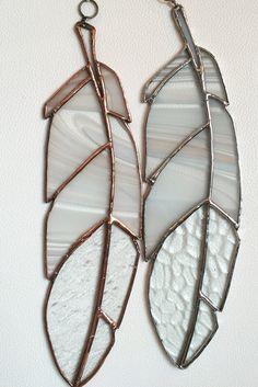 Klassieke Eagle gebrandschilderd glas Feather door CopperAndCame