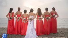 Damas de honor . Boda en la playa