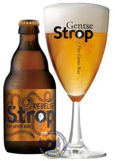 Rebelse Strop, a ABV Belgian beer by brewery Roman is based on their popular Gentse Strop but with added Brettanomyces this beer continues to evolve in the bottle. Beer Brewery, Beer Bar, Champagne Drinks, Ale, Dark Beer, Beers Of The World, Belgian Beer, Beer Brands, Beer Packaging