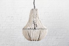 Mud bead chandelier - made in my home province KZN by HIV affected women. New obsession.