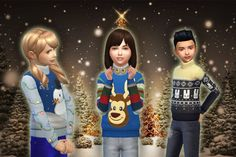 Christmas Top for Kids at My Stuff via Sims 4 Updates  Check more at http://sims4updates.net/clothing/christmas-top-for-kids-at-my-stuff/