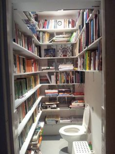 Serendipitous Readings: Photo - Ha ha! Now there's a good use for the smallest room in the house.