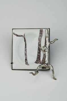ANDREW KUEBECK-USA, I Hadn't Realized that I Lost the Path, Sterling Silver, Copper, Enamel; Fabricated, Cold Connected, Enameled, Toner Decal